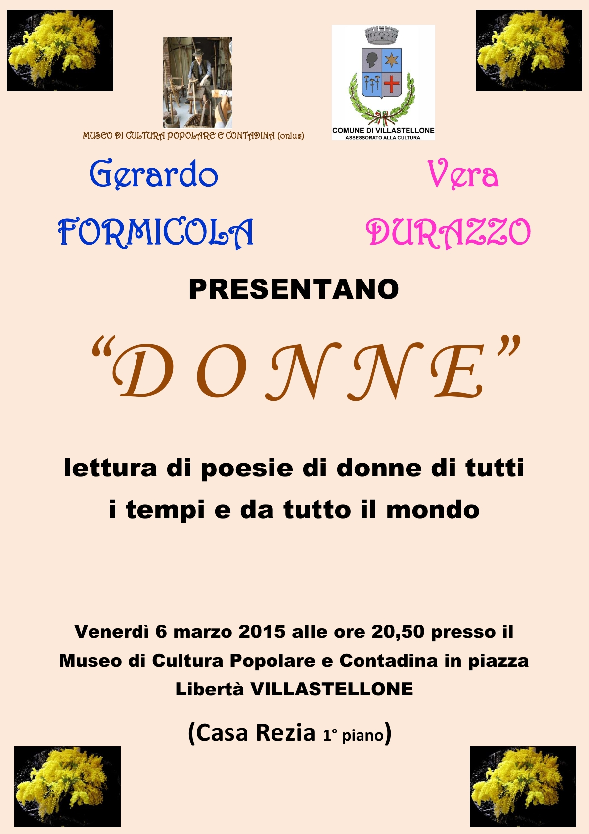 Locandina poesie festa della donna